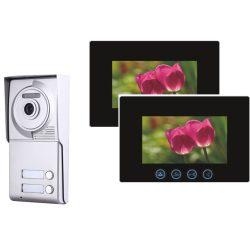 Kétvezetékes Kétlakásos Vandálbiztos Társasházi HD Video Kaputelefon Szett PVA702Z-2W-7