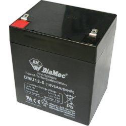 Diamec 12V 5Ah Riasztó Akkumulátor