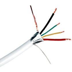 Erősített 2 x 0 5 + 4 x 0 22 CCA kábel Riasztókábel