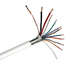 Erősített 2 x 0 5 + 8 x 0 22 CCA Riasztókábel