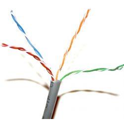Tömör 4 x 2 x 0 5 UTP CAT 5 Solid Cable 305m Struktúrált kábel