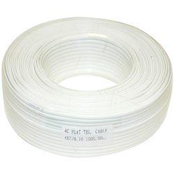 TM-KL 4C 4 erű lapos fehér 100 m Telefonkábel