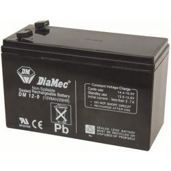 Diamec 12V 9Ah F2 Riasztó Akkumulátor