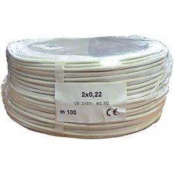 2 x 0.22 réz biztonságtechnikai kábel