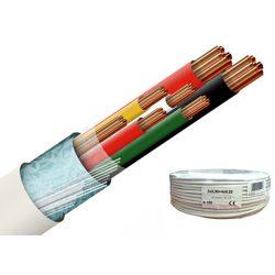 Erősített 2 x 0.5 + 4 x 0.22 réz biztonságtechnikai kábel