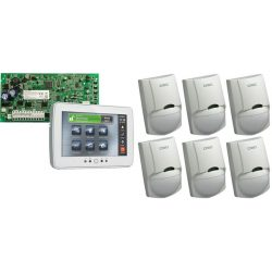 DSC PC1616PCBE panel + PTK5507 + 6 db LC100