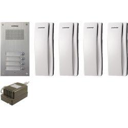 Commax DR-4UM + 4 db DP-SS + RF-1A A Audio Kaputelefon Szett