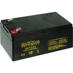 HONNOR 12V 3,3Ah Riasztó akkumulátor