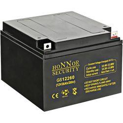 HONNOR 12V 26Ah Riasztó akkumulátor