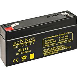 HONNOR 6V 1,3Ah Riasztó akkumulátor
