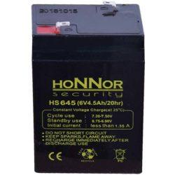 HONNOR 6V 4,5Ah Riasztó akkumulátor