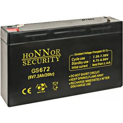 HONNOR 6V 7,2Ah Riasztó akkumulátor