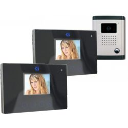 Egylakásos Két Beltéri Egységes Videó Kaputelefon szett 9cm Kijelzőkkel DF-629TSX2+OUT9