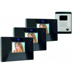 Df-629TSX3+OUT9 Trio  Egylakásos Három Beltéris Színes Videó Kaputelefon 9cm LCD Kijelzőkkel