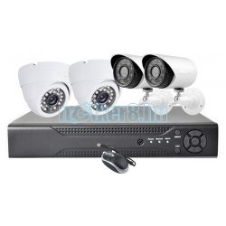 4 Kamerás 1Mpixeles HD Megfigyelő Rendszer 2 Kültéri és Két Beltéri Kamerával HD7004