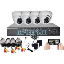 4 kamerás 1Mpixeles HD megfigyelő rendszer 4 beltéri kamerával