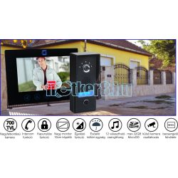 Egylakásos Memóriás 4Vezetékes Video Kaputelefon 18cm  Képátlóval, Falon Kívüli Kültérivel