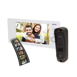 4 vezetékes egylakásos memóri sszupervékony video kaputelefon FEHÉR