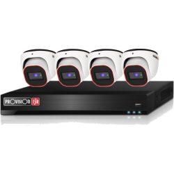 4 Dome kamerás AHD 2Mpixeles Video Rögzítő Szett PR-SH4100A2LMM