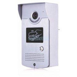2Vezetékes Szines HD Video Kaputelefon Falon Kívüli Kültéri Egység Proximity Kártya Vezérléssel