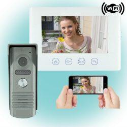 4 Vezetékes Okos video kaputelefon szett 17,5cm átlójú WiFi monitorral DPV-WIF-SET